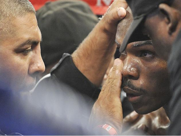 Timothy Bradley (R) Of The US Speaks AFP/Getty Images