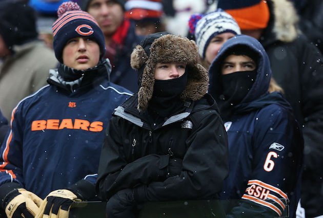 Bundle up Bears fans. The polar vortex is coming. (Getty)