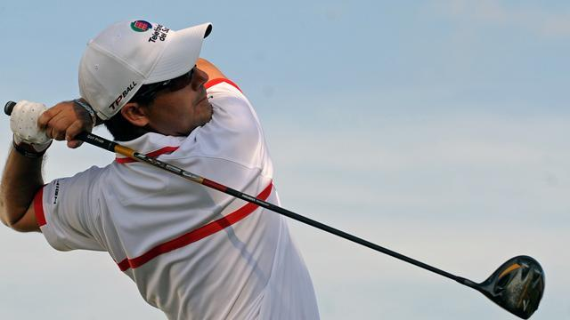Golf - Aguilar leads three-way tie at Spanish Open