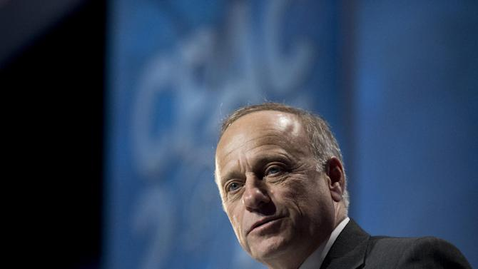 Rep. Steve King, R-Iowa, speaks at the 40th annual Conservative Political Action Conference in National Harbor, Md., Thursday, March 14, 2013.  (AP Photo/Manuel Balce Ceneta)