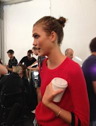 Karlie Kloss is the talk of New York Fashion Week after keeping the FROWers fed with her 'Fashionably Wholesome' Kookies and
