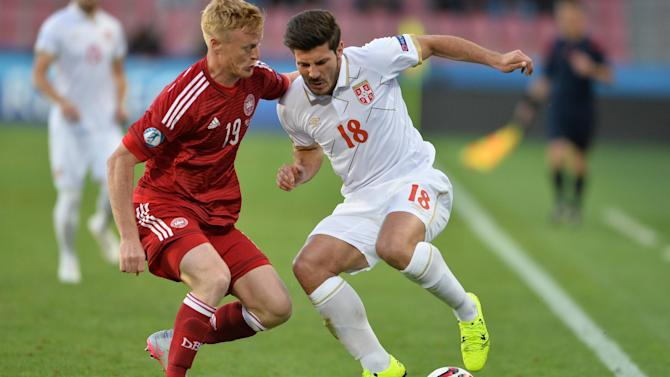 U-21 Euro  - Denmark top Group A to seal final four spot after victory over Serbia