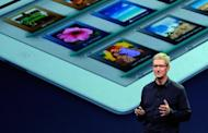 Apple CEO Tim Cook, pictured in March 2012, topped the list of the best-paid CEOs in the US in 2011 thanks to stock options that put him more than $300 million above his next rival, a Wall Street Journal survey showed Monday
