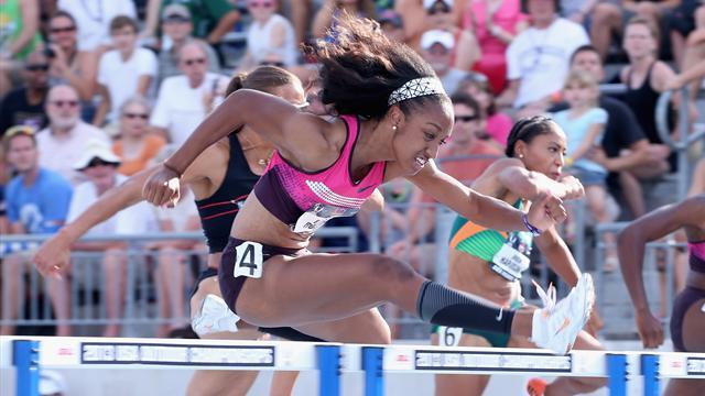 World Championships - Rollins sees off Pearson for hurdles gold