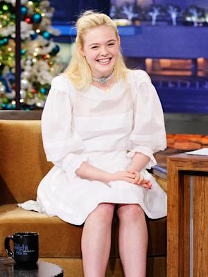 Elle Fanning Giggles, Blushes, Talking About First Onscreen Kiss