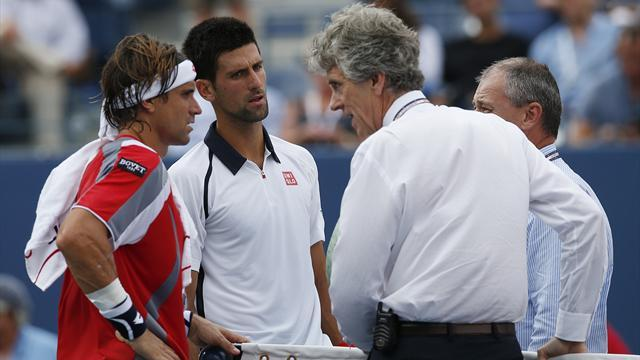 Djokovic-Ferrer suspended, US Open final moved to Monday