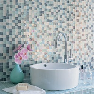 Mosaic tile counter