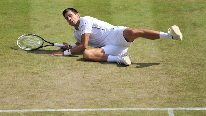Wimbledon - Djokovic through in five sets after stumble