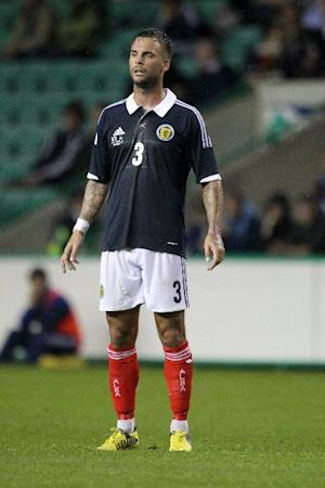 Danny Fox is struggling with a groin strain as Scotland prepare to face Serbia and Macedonia