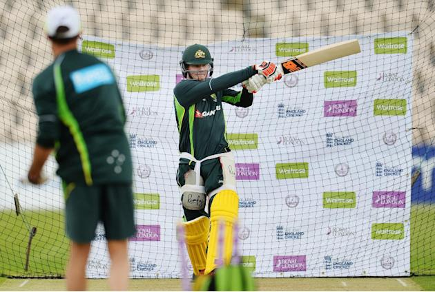 Australia's Steve Smith during a training session