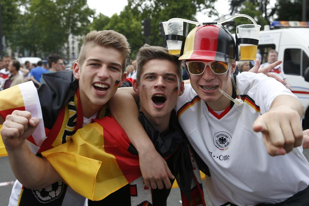 Football Soccer - Northern Ireland v Germany - Euro 2016 - Germany supporters