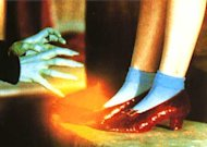 If you're a film fan missing a ruby red pair of slippers in your wardrobe, then we have just the news for you. One of the original pairs of ruby slippers worn by Judy Garland in 'The Wizard of Oz' will be coming up for auction just in time for Christmas