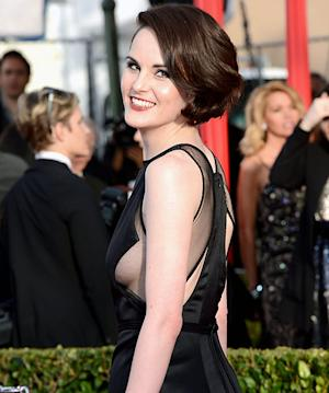 Michelle Dockery, Downton Abbey Star, Flashes Sideboob at SAG Awards 2013