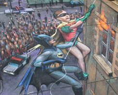 Julian Beever Sidewalk Painting - Batman