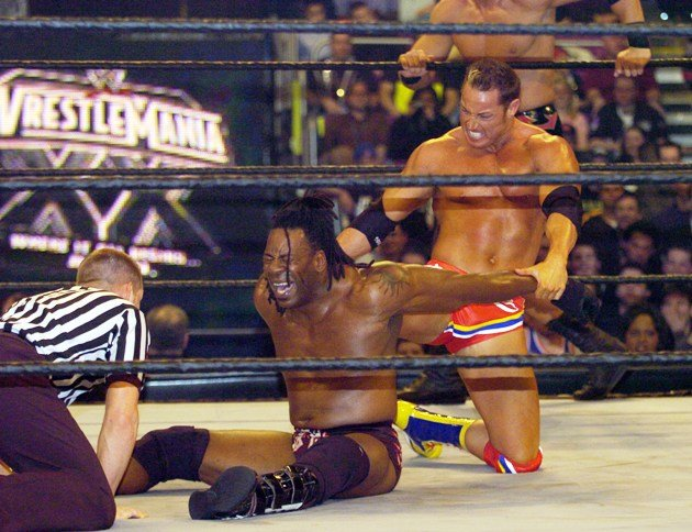 Booker T during Wrestle Mania XX in New York, 2004. (Photo by KMazur/WireImage)
