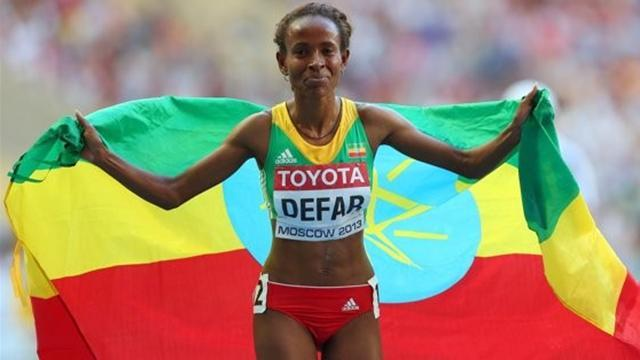 World Championships - Ethiopia's Defar storms to 5000m title