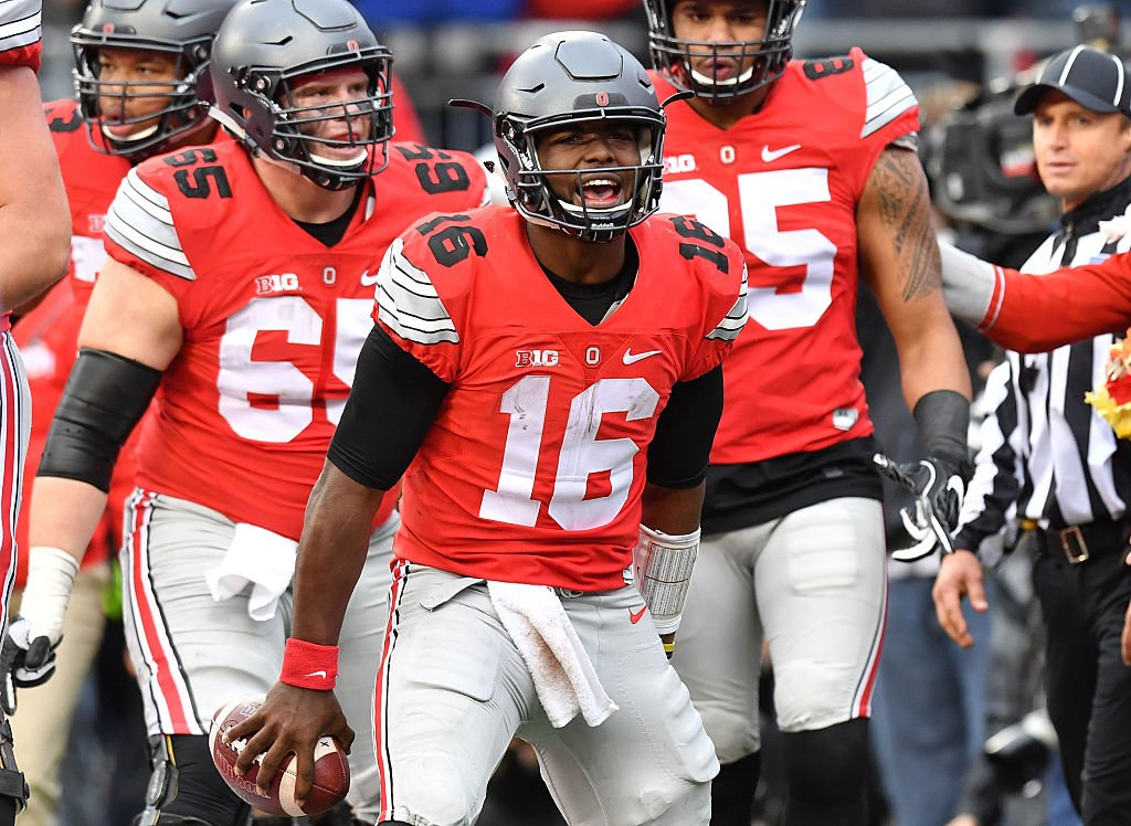 Ohio State defeated Michigan last week to stake their claim as the No. 2 team in the College Football Playoff. (Getty)
