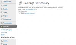 Find Out If Your WordPress Plugins Are No Longer In The Repository (And Potentially No Longer Safe) image wp no longer in directory 1 550x323