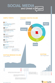 Does Social Media facilitate public protests? image Egypt Infographic 403x600