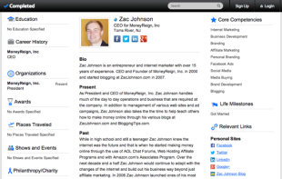 Protect Your Reputation with Main Page Rankings on Google image Zac Johnson Completed Profile Resume