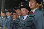 Singers are seen during a rehearsal for the Song and Dance festival in Riga, Latvia, on July 4, 2013. Since the 19th-century the festival has been one of the few constants in the turbulent history of the Baltic nation of just two million people