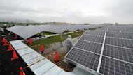 A large-scale solar power plant opens at a startup ceremony in Kyoto. Japan opened several solar energy parks on Sunday as a new law came into force requiring companies to purchase renewable energy at a fixed price in a push for alternatives to nuclear power