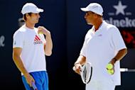 Andy Murray (left) says he wants coach Ivan Lendl to stay with him on a long-term basis, possibly for the next five years. The Scot hooked up with the Czech legend a year ago and in the last 12 months he won Olympic gold in London, his first major title at the US Open and reached the final at Wimbledon
