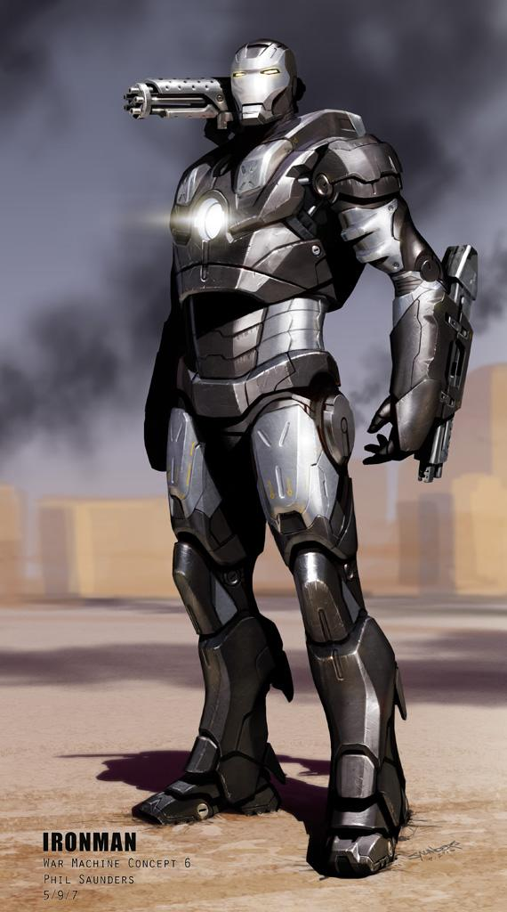 Iron Man Design Art Paramount 2008