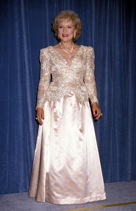 Betty in a full-length gown