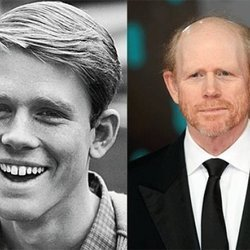 Ron Howard circa Happy Days and now.