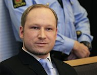 A file photo taken on February 6, shows Norwegian rightwing extremist Anders Behring Breivik during a court appearance in Oslo. Breivik, who killed 77 people in twin attacks in Norway last year, goes on trial in Oslo on Monday where proceedings will focus on whether or not he is sane