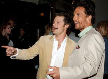 Steve Zahn and Matthew McConaughey at the Hollywood premiere of Paramount Pictures' Sahara
