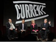 "From left to right, Current TV President David Bohrman, Cenk Uygur, host of the new television show ""The Young Turks with Cenk Uygur,"" Jennifer Granholm, former Michigan Governor and host of the new television show ""The War Room with Jennifer Granholm,"" and Al Gore, Former Vice President and Current TV Chairman and Co-Founder, participate in the Current TV portion of the Television Critics Association Winter Press Tour in Pasadena , Calif. on Friday, Jan. 13, 2012. (AP Photo/Danny Moloshok)"