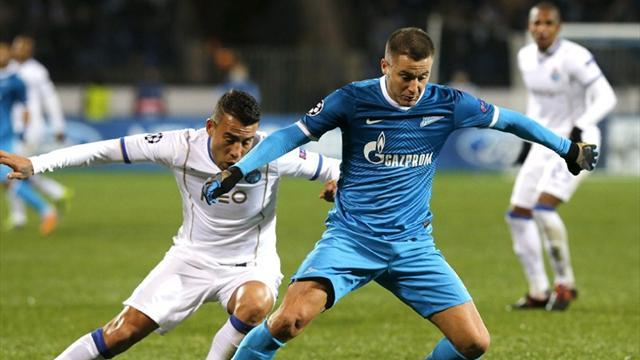 Champions League - Zenit and Porto share the points after Hulk equaliser