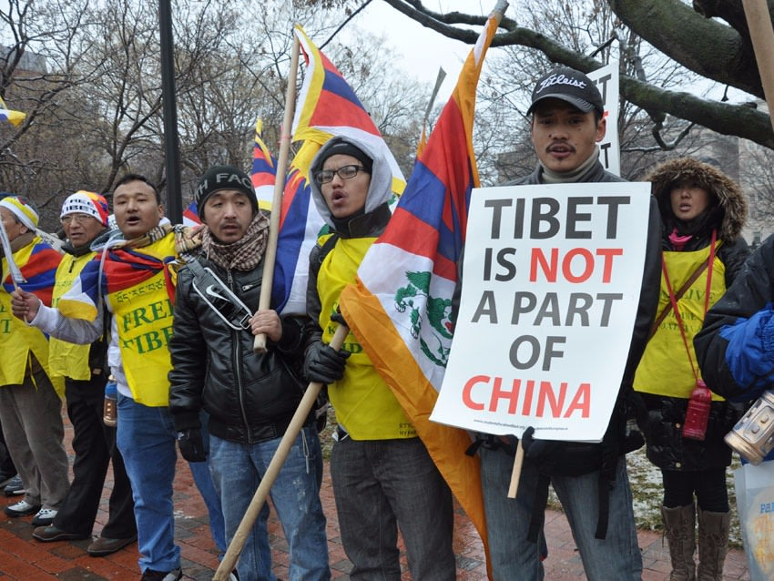 Free Tibet Protesters