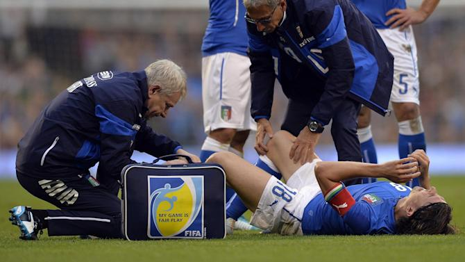 World Cup - Italy's Montolivo out of World Cup with broken leg
