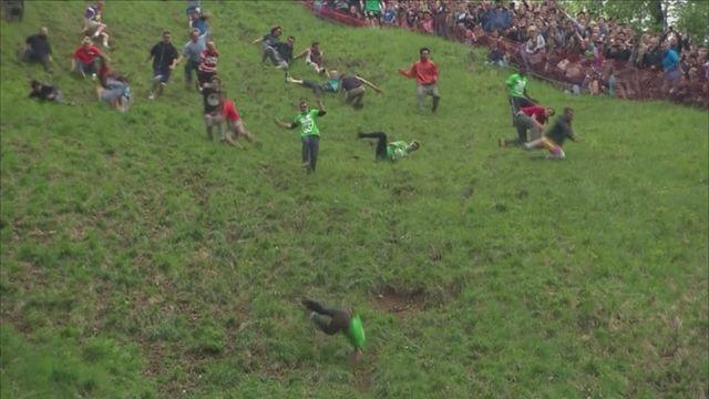 MUST WATCH: Cheese Rolling 2015