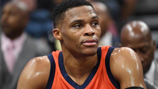 Russell Westbrook reacts to not being an All-Star starter
