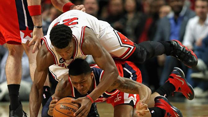 Wizards beat Bulls 101-99 in OT to take 2-0 lead