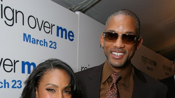 Jada Pinkett Smith and Will Smith at the World Premiere of 'Reign Over Me.'