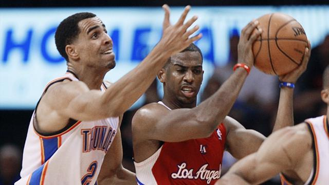 NBA - Thunder halt Clippers in overtime