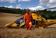 Tragic: Pete Barnes died when his helicopter crashed in central London this morning (Rotormotion)