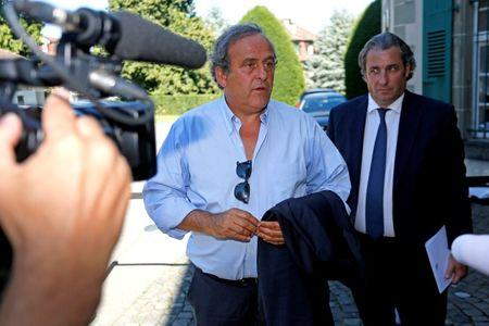 Former UEFA President Michel Platini leaves the Court of Arbitration for Sport (CAS) after being heard in the arbitration procedure involving him and FIFA in Lausanne