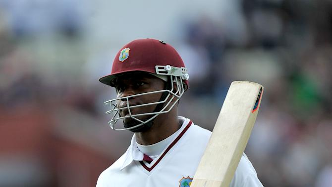 Marlon Samuels hit his fifth Test century to help West Indies cut Bangladesh's lead