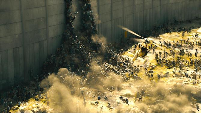 "This publicity image released by Paramount Pictures shows a scene from ""World War Z."" (AP Photo/Paramount Pictures)"