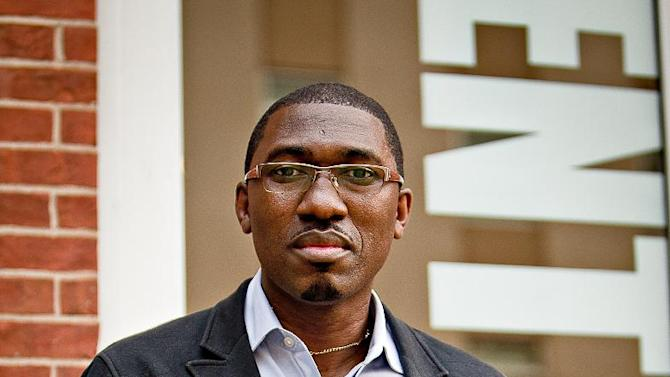"This 2011 photo released by Center Stage shows Kwame Kwei-Armah, Artistic Director of Center Stage theater in Baltimore, Md. The 46-year-old black British actor, director and playwright launches ""Beneatha's Place.""  The new production will play in rotation with Bruce Norris' ""Clybourne Park,"" which won a Tony Award last year for best new play. (AP Photo/Center Stage, Richard Anderson Photography)"