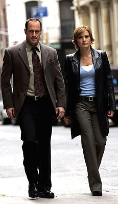 """Christopher Meloni as Detective Elliot Stabler and Mariska Hargitay as Detective Olivia Benson NBC's""""Law and Order: Special Victims Unit"""" <a href=""""/baselineshow/4728792"""">Law & Order: Special Victims Unit</a>"""