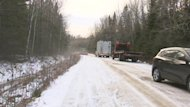 Emergency crews responded to the scene in the backwoods near Tracadie-Sheila on the Acadian Peninsula in December 2012.