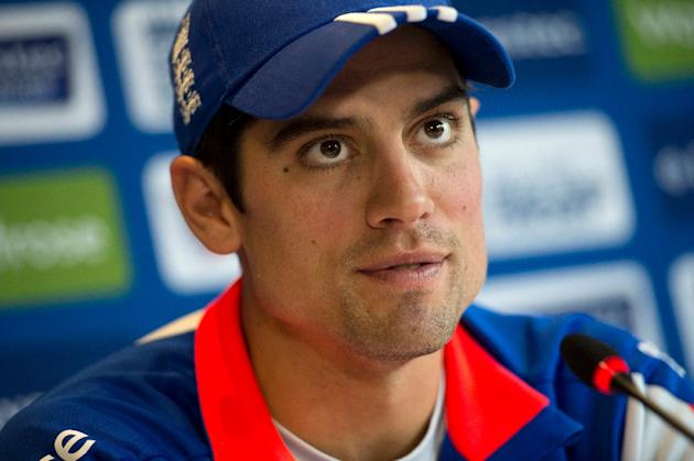 England cricket captain Alastair Cook speaks during a press conference at Headingley in Leeds, northern England, on May 28, 2015