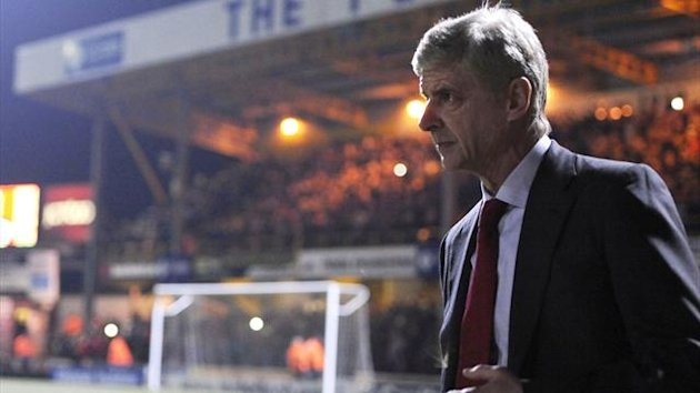 Arsenal's coach Arsene Wenger after losing to Bradford (Reuters)